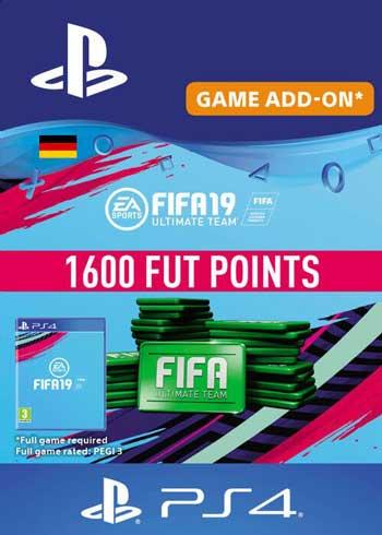 FIFA 19 - 1600 FUT Points PS4 DE, CDKEver.com