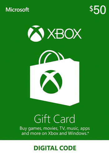 Xbox Live $50 USD Gift Card US
