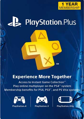PlayStation Plus 1 Year Membership Card US