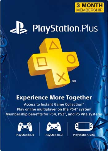 PlayStation Plus 3 Months Membership Card US, CDKEver.com