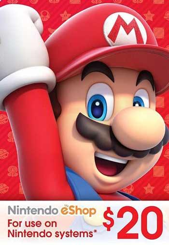Nintendo eShop 20 USD Gift Card US, CDKEver.com