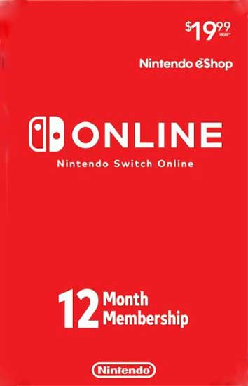 Nintendo Switch Online 12 Month Individual Membership Card Global, CDKEver.com