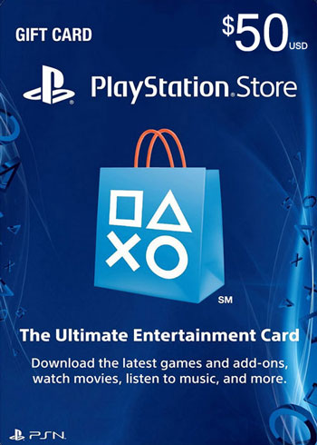 PlayStation Network $50 USD PSN Gift Card US, CDKEver.com